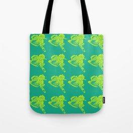 Gotcha - Yellow on Green Tote Bag