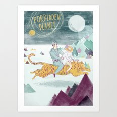 Forbidden Planet Art Print