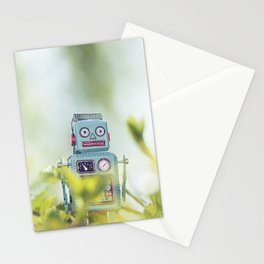 Robot in Nature Stationery Cards