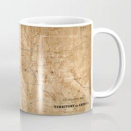 Map Of Arizona 1860 Coffee Mug