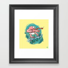 Curious Case of Indestructible Fly  Framed Art Print