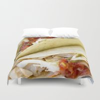 taco Duvet Covers featuring Taco  by Spotted Heart