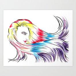 Miss Prism Art Print