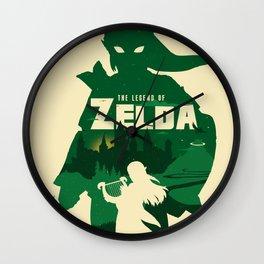 The legend of Zelda minimalist art Wall Clock