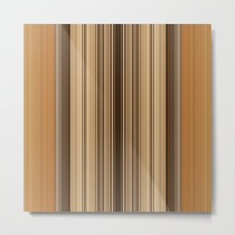 Fudge Stripes Metal Print