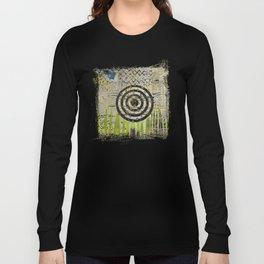 Bullseye Abstract Art Collage Long Sleeve T-shirt
