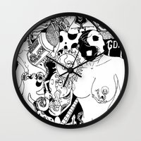 random Wall Clocks featuring Random by bayes bros