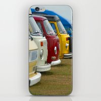 vans iPhone & iPod Skins featuring Camper Vans by Jainbow