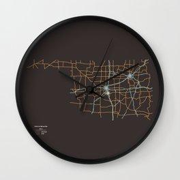 Oklahoma Highways Wall Clock
