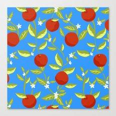 Orange Grove Pattern Canvas Print