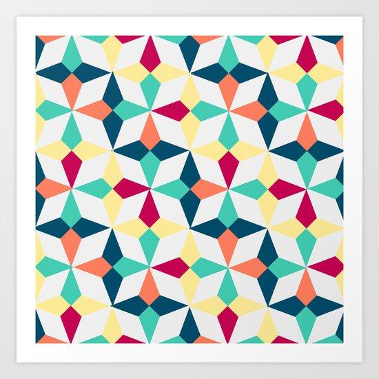 FloralGeometric Art Print