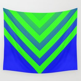 Blue & Green Chevron Wall Tapestry
