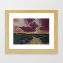 Desert trail at Dusk Framed Art Print
