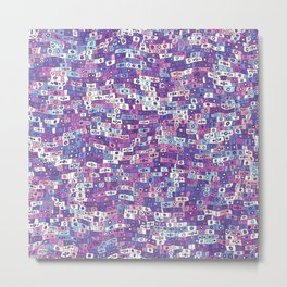 Colorful tiles distorted by noisy ripples Metal Print