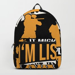 In My Head I'm Playing Paintball Backpack