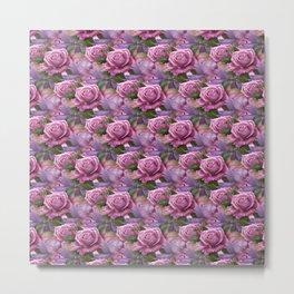 Peach & Purple Roses Metal Print