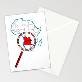 Angola Under The Magnifying Glass Stationery Cards