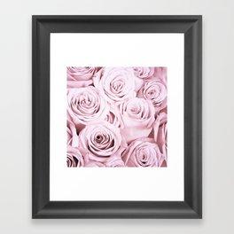 Pink Roses Flowers - Rose and flower pattern Framed Art Print