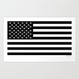 Hashtag American Flag Art Print