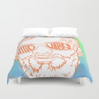 good vibes Duvet Covers featuring GOOD VIBES by YTRKMR