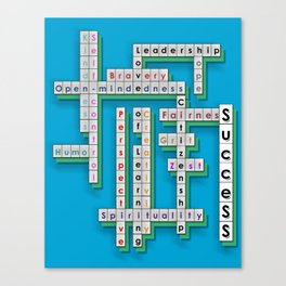 Cross Word Puzzle of Success Canvas Print
