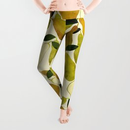 mediterranean pears watercolor Leggings