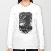 kaiju Long Sleeve T-shirts featuring El Kaiju by SkullsNThings