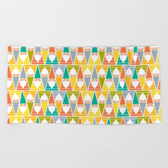 Gnomes Beach Towel