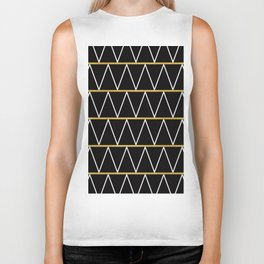 Black and gold zigzag Biker Tank