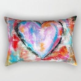 Reckless Heart, Abstract Art Painting Rectangular Pillow