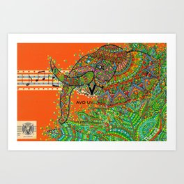Elephant Song Art Print