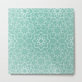 Geometric Flowers I Metal Print