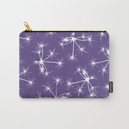 Floral Fireworks - Ultra Violet Botanical Pattern Carry-All Pouch