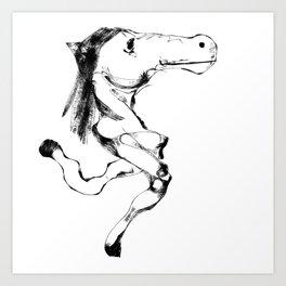 Slumokra the two legged Horse Art Print
