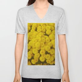 Autumn Gold - Chrysanthemums Unisex V-Neck