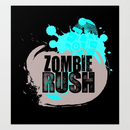 Zombie Rush - 2012 Art Print