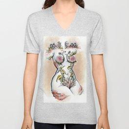 Peri shroom torso in color Unisex V-Neck
