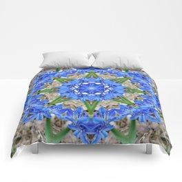Spring Scilla Kaleidoscope Comforters