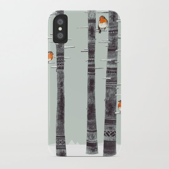 Robin Trees iPhone Case