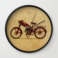ducati Wall Clocks featuring Ducati 60 1950 by Larsson Stevensem