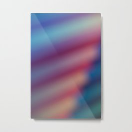 Abstract Multicolor Metal Print