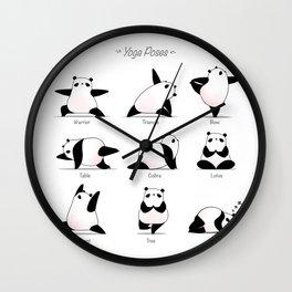 Yoga Panda II Wall Clock
