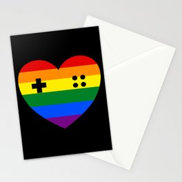 Rainbow Gamer Stationery Cards