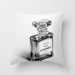 Perfume Bottle Throw Pillow