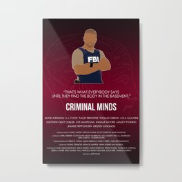 Criminal Minds - Morgan Metal Print