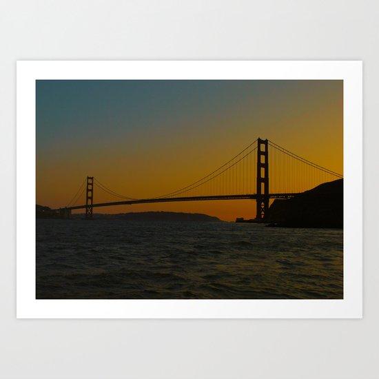 Golden Gate Bridge at Sunset -- San Francisco Art Print