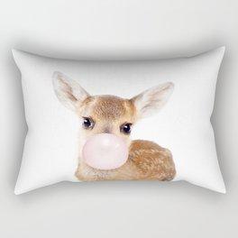Bubble Gum Baby Deer Rectangular Pillow