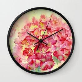 Ruby Tuesday Hydrangea Wall Clock