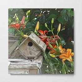 Garden Birdhouse  Metal Print