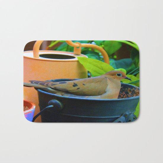 A Bird in a Bucket Bath Mat